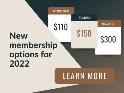 Image reads: New membership options for 2022. Learn more
