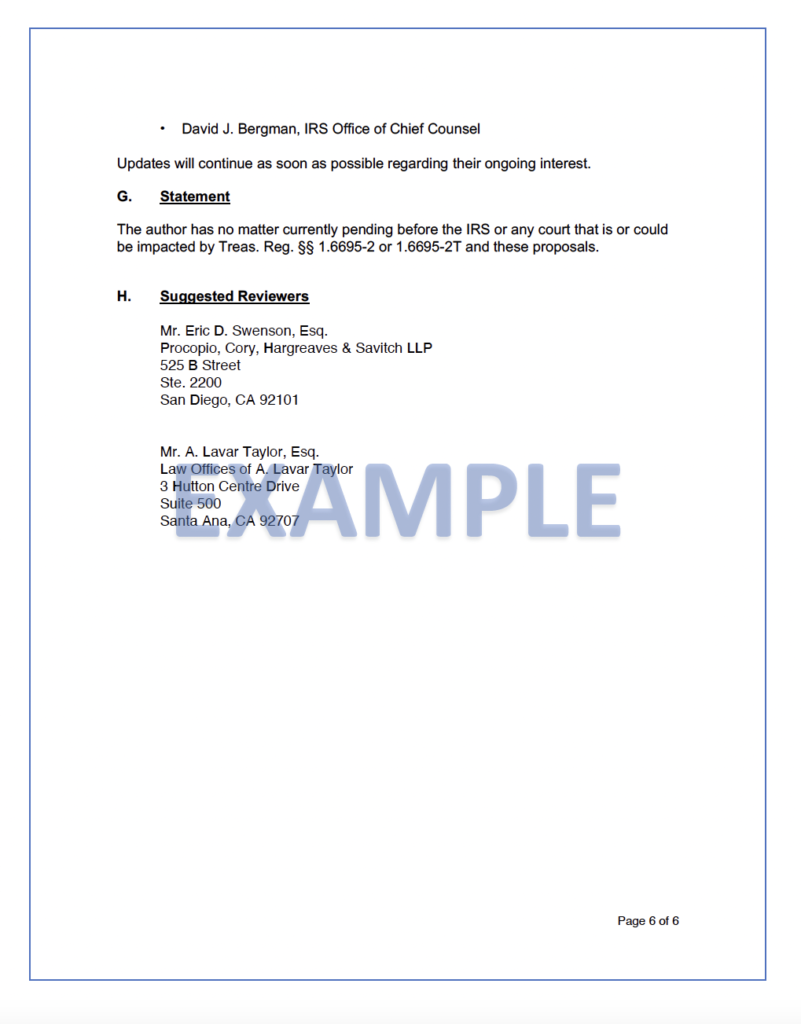 example of document